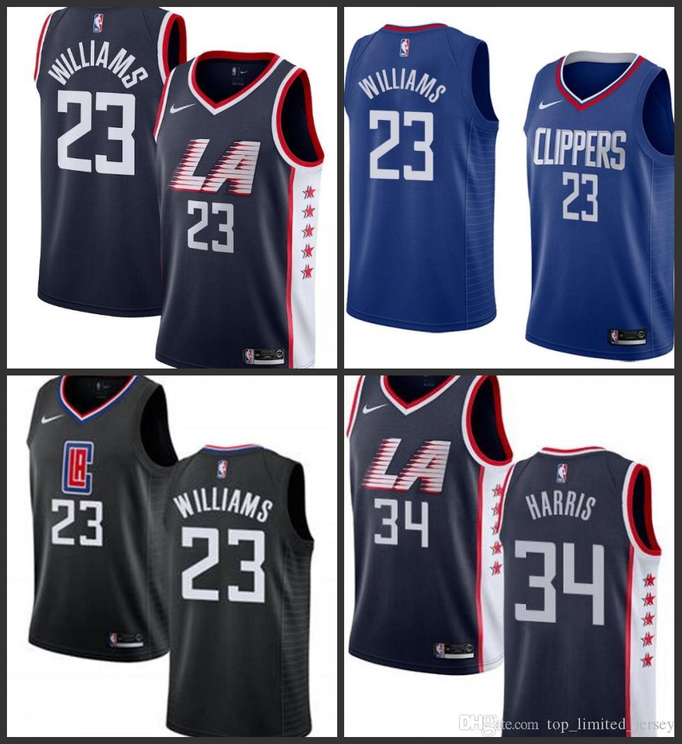 da3bb6dce47 2019 2019 Season Los Angeles Men Clippers Jersey Lou Williams Harris Navy  Blue New Pattern City Jerseys Edition From Top jersey99