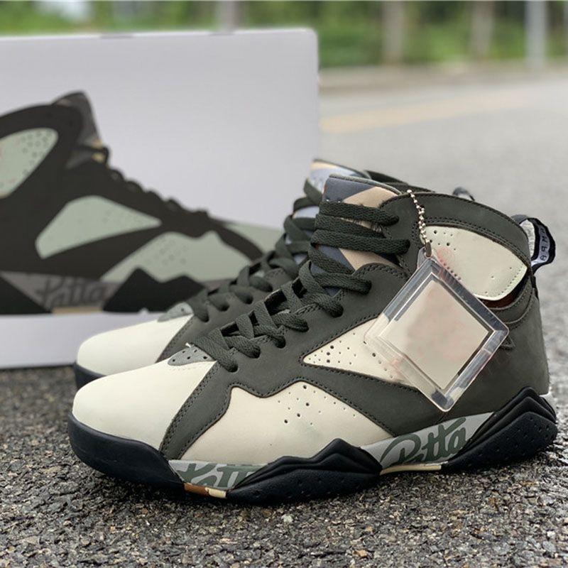 acquisto speciale Sito ufficiale Miglior prezzo 2019 Patta Icicle Scarpe da basket 7 OG SP Army Green Mens Designer Shoes  TOP Outdoor Athletic Sports Sneakers Taglia 7.5-13
