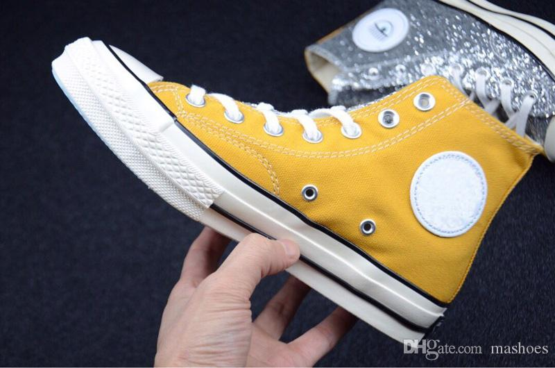 Top quality 2019 New UNDEFEATED Chuck 70 Ox Canvas Shoes Chiara Ferragni designer Big eyes shining Women Casual Sneakers 35-39