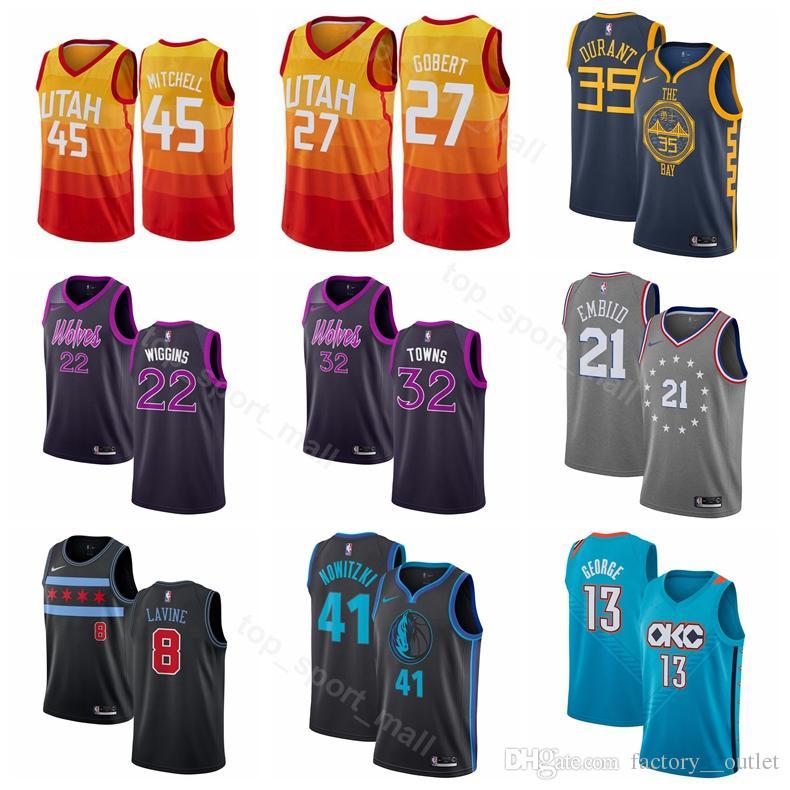 2019 Basketball Edition City Jerseys Rudy 27 Gobert Donovan 45 Mitchell  Zach 8 LaVine 23 Michael Karl Anthony 32 Towns Andrew 22 Wiggins UK 2019  From ... b299f208b