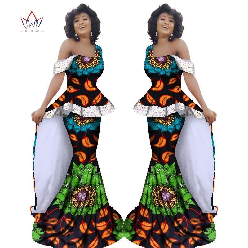 e97a3d675602 Nuevo Bazin Riche Vestido africano sin mangas con cuello en V Maxi Dashiki  Falda africana y tops de moda 2 piezas más el tamaño 6XL WY2388