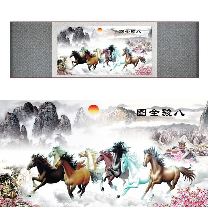 Top Quality Chinese Horse Be Painting Horse Art Painting Silk Scroll Art Painting 19062804