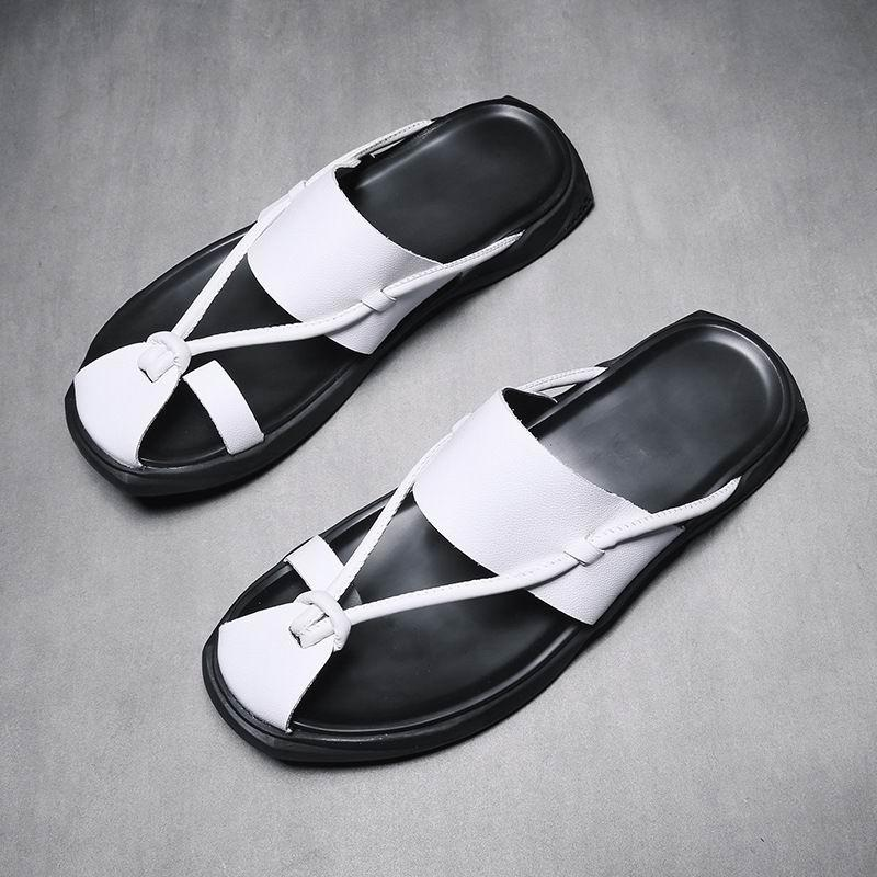 9a691ebcdbf ERRFC New Arrival Mens White Slippers Summer Breathable Man Casual Flip  Flops Shoes Rome Black Slides Male Chaussure Size 38-44