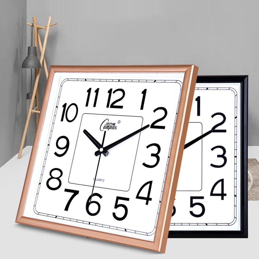 Grande 3d Creativo Reloj De Pared Cuadrado Diseño Moderno Niños Cocina Silenciosa Reloj Nórdico Reloj Mural Relojes De Pared Decoración Para El