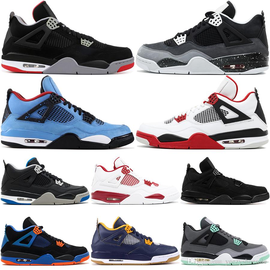 28a8a86a535461 ... 4 Men Basketball Shoes Raptor Tattoo Black Cat Bravo Fire Red White  Cement Pure Money Oreo 4S Designer Sports Sneakers 8 13 Barkley Shoes Shoes  Jordans ...