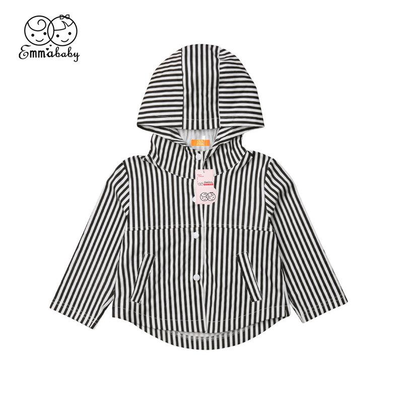 fd047da251e Compre Abrigo Para Niño Niño Niño Niña Outwear Ropa De Bebé Sudadera A  Rayas Chaqueta De Manga Larga Abrigo Tops Sudadera Ropa Para Niños 1 5T A   33.88 Del ...