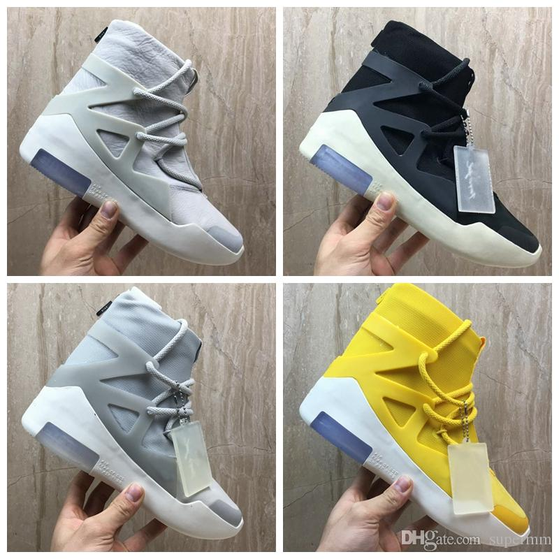 04475d42cfb 2019 Fear of God 1 New Designer Boots Light Bone Black Sail ...