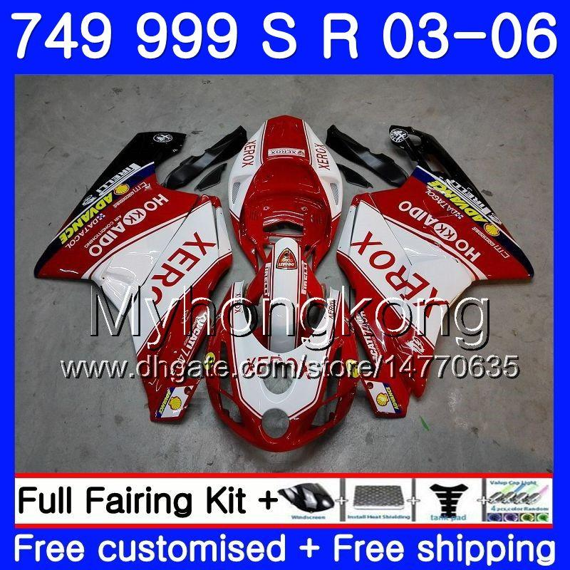 Body For DUCATI 749-999 749S 999S 999 749 03 04 05 06 Bodywork 326HM.0 749 999 S R 999R 749R 2003 2004 2005 2006 Fairing kit Red white Hot