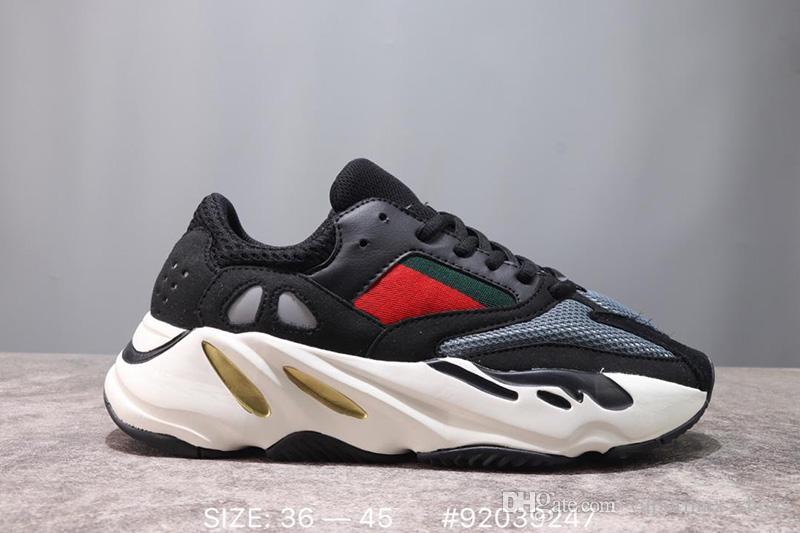 2019 Designer Shoe 700 Kanye West Analog KAWS Salt malva OG giallo congelato Scarpe da corsa Sport Wave Runner Sneakers con scatola