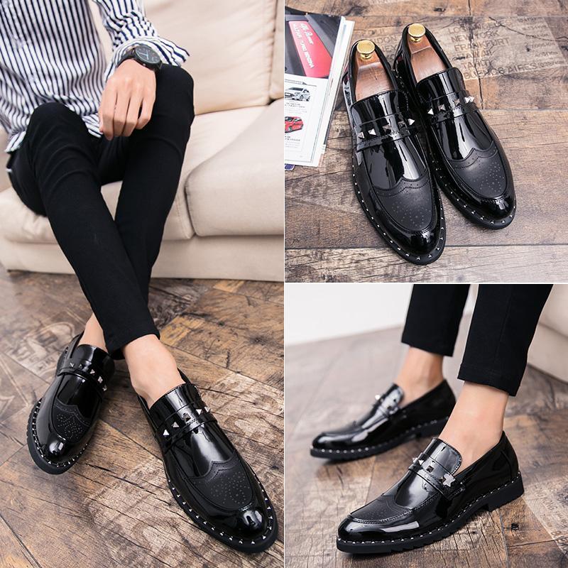 90747660ae Compre 2019 Nuevos Zapatos De Moda Para Hombres Zapatos De Tendencia Juvenil  Zapatos De Cuero Sólido Grueso 38 44 Yardas Envío Gratis D2277 A $30.16 Del  ...