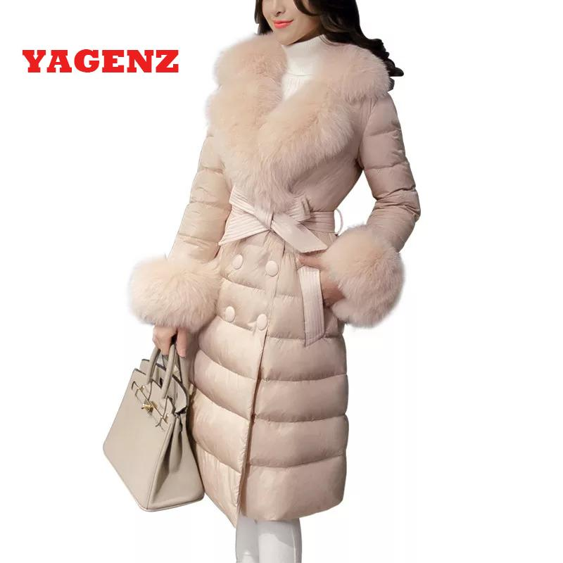 low priced 27328 e7825 2019 Piumino bianco anatra 95% Cappotto di piumino corto di alta qualità  Nuova Corea Giacca invernale di Ms Collo di pelliccia caldo Cappotto  elegante ...