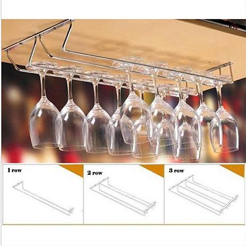 2019 Stainless Steel Cabinet Wine Glass Rack Kitchen Dining Bar