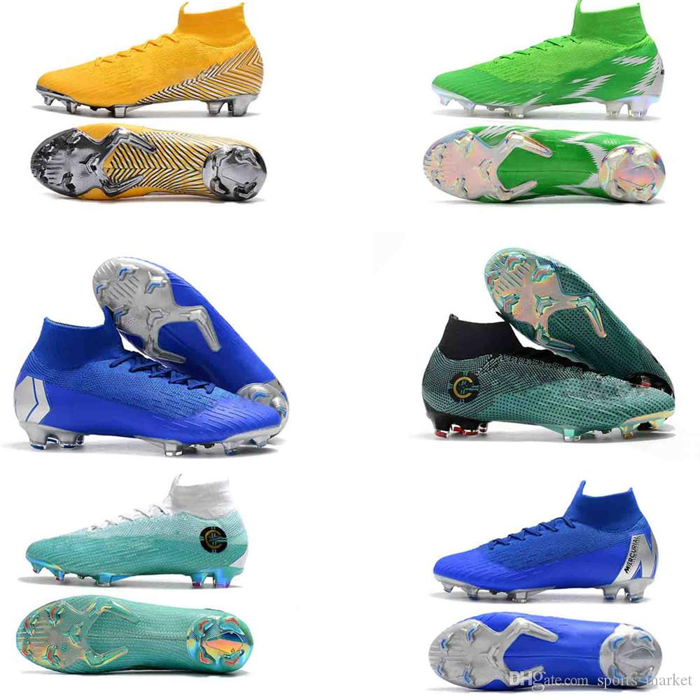 f680706b4 2019 Original Mercurial Superfly VI 360 Elite FG Mens Football Boots  SuperflyX KJ XII 12 Ronaldo 6 CR7 Soccer Cleats Chuteiras Futebol Original  From ...