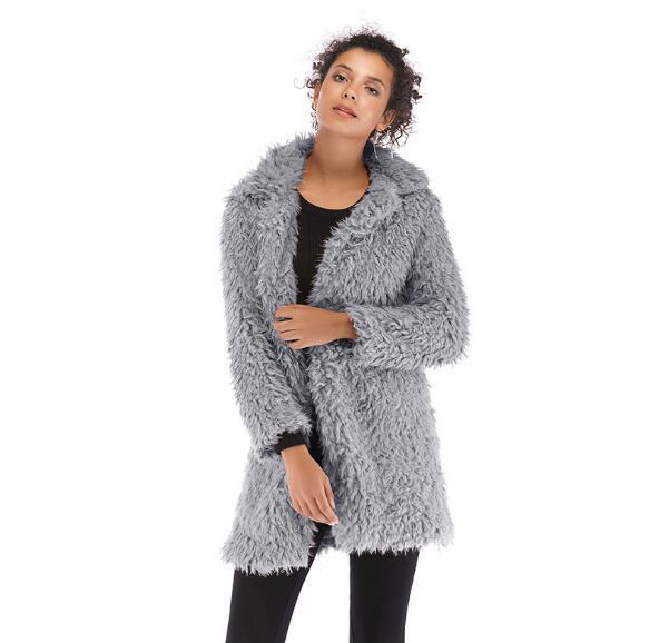 b56bd645e0a Купить Оптом 5 Цветов Длинные Женские Зимние Пальто Мода Волосатые ...