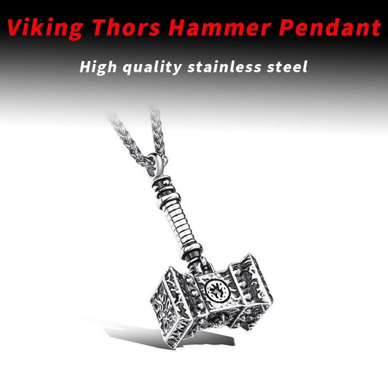 Beier 316L inossidabile Viking Norse Odino Thors Mjolnir Martello Uomo da Quake Collana pendente Animale Vichingo Gioielli LP366