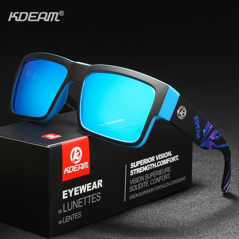c65f030d90 Compre KDEAM Esportes Óculos De Sol Dos Homens Da Marca Designer Quadrado  De Revestimento Refletivo Para Os Homens Retângulo Óculos De Sol Com Caso  KD093 De ...