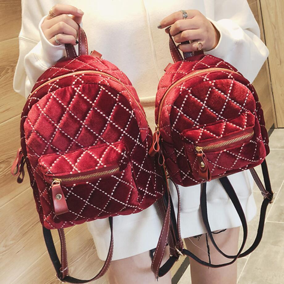 Fashion Women Backpack 2019 Winter New School Backpacks Women Backpack Designers Brand For Teenage Girl Quality Travel Rucksack