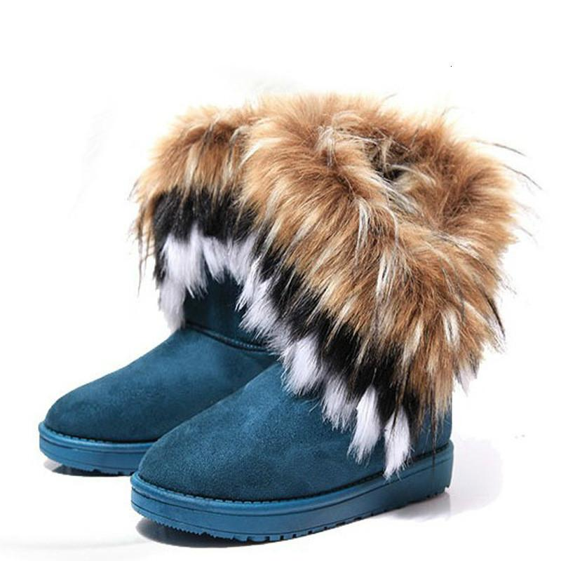Fashion Women's Winter New Snow Boots imitation Ladies Cotton Comfortable Warm Women's Boots