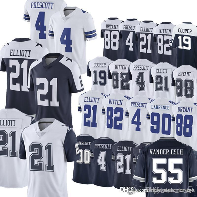 huge selection of f6bba 96978 Cowboys 55 Leighton Vander Esch Dallas jerseys 19 Amari Cooper Dallas 4 Dak  Prescott jersey 21 Ezekiel Elliott 90 DeMarcus Lawrence