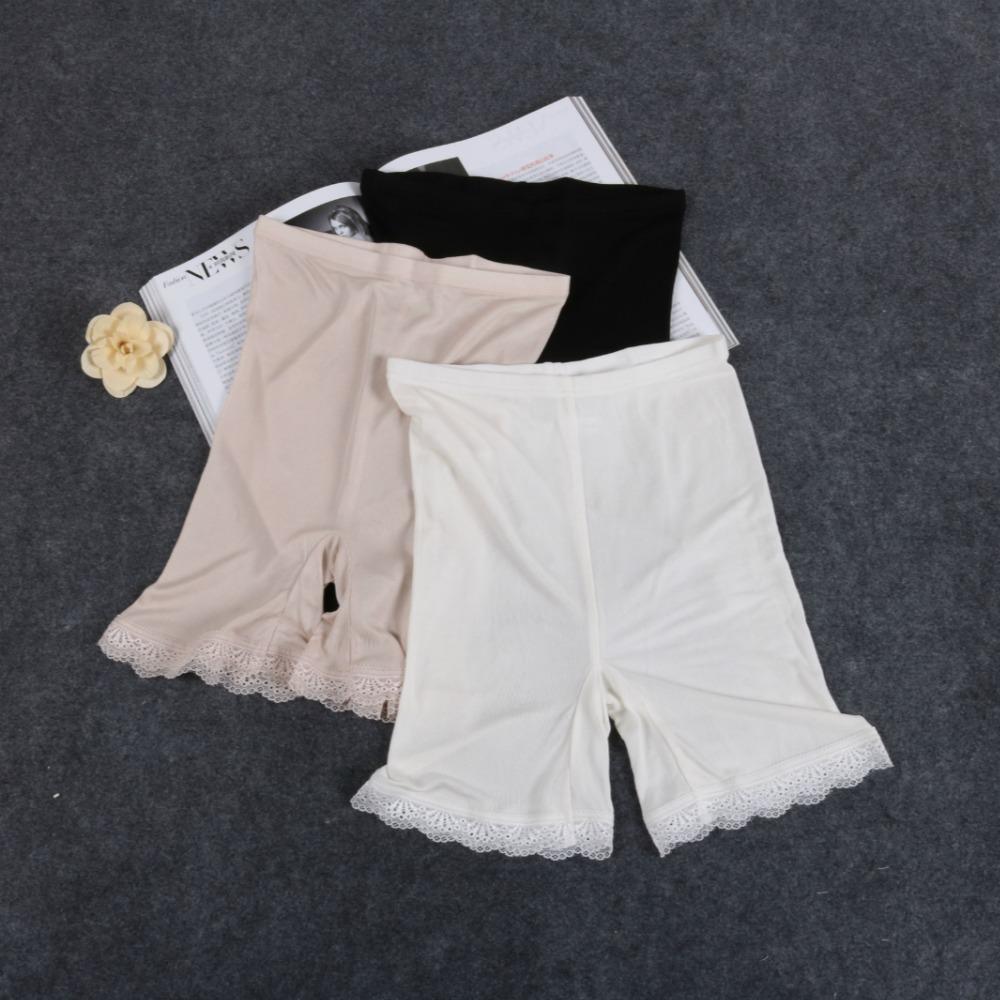 92ad5c894e48 Pantalones cortos de punto de seda natural de Leechee para mujer Tejido de  hilo transpirable súper cómodos tres pantalones Color sólido ...
