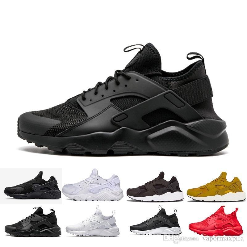 the latest 7bace 6cb47 Acheter Nike Huarache Ultra 1.0 4.0 I IV Triple Blanc Noir Rouge Gris  Huaraches Sports Hommes Baskets Casual Chaussures EUR Taille 36 45 De  $38.46 Du ...