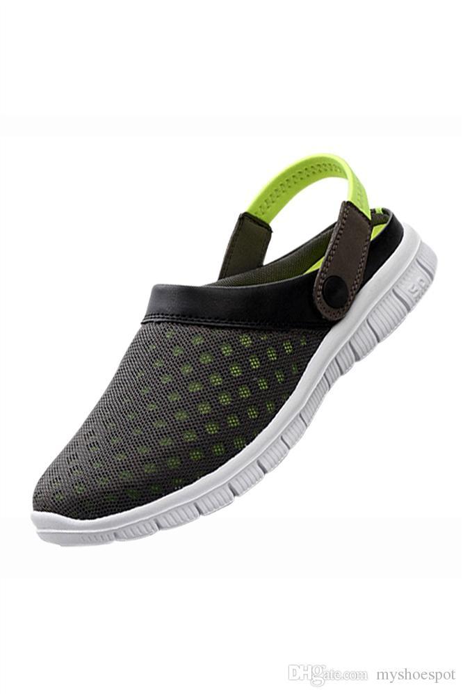 4e86844d9 2018 Men Sandals Summer Slippers Shoes Croc Fashion Beach Sandals ...