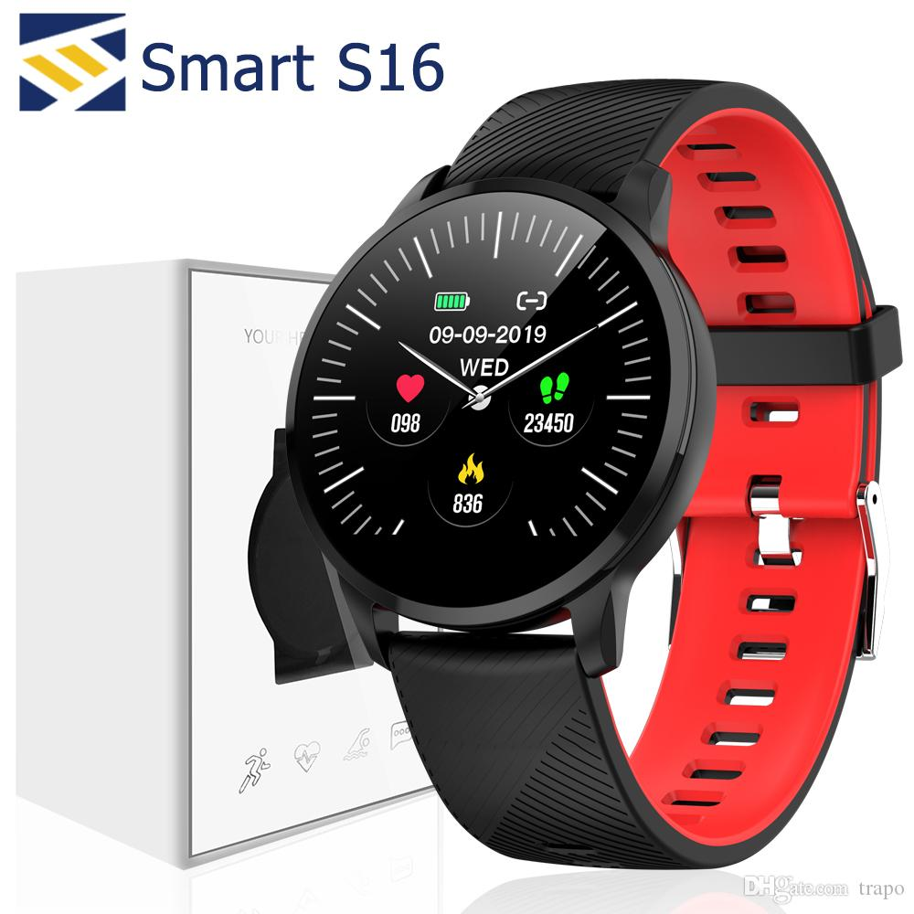 S16 Smart Band Bracelet Heart Rate Watch Health Fitness Tracker Exercise Data Record Photo Control for Samsung and Apple Phone
