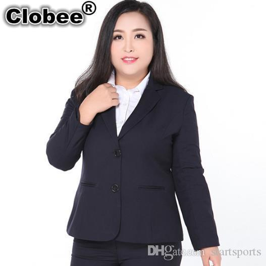 2f8194b443f42 Clobee Women Blazers Spring Women Thin Slim Blazer Coat 2018 Ladies  Official Long Sleeve Jackets Suit For Plus Size M276 #408620