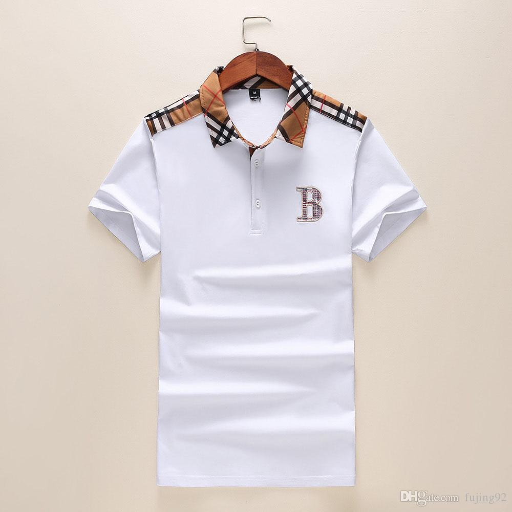 28964ae12 New 2019 Mens Designer Polos Brand Small Horse Crocodile Embroidery  Clothing Men Fabric Letter Polo T-shirt Collar Casual T-shirt Tee Shirt  Polo Shirts Men ...
