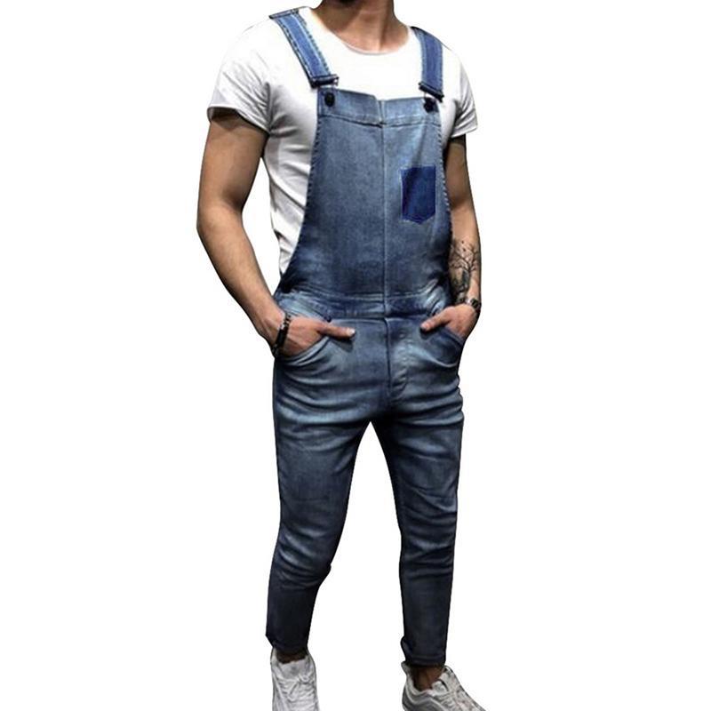 Jeans Mens Vintage Jeans Jumpsuit One Piece Work Bib Denim Overalls Male Hip Hop Suspender Pants Japan Fashion Men Cargo Strap Jeans