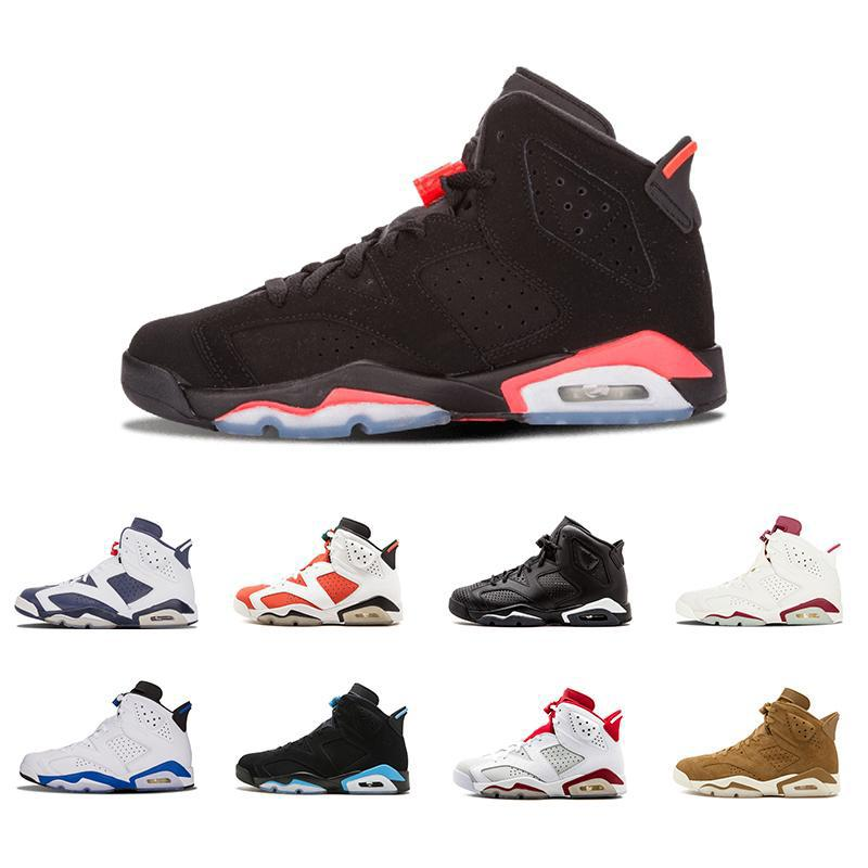 2018 6 men Basketball shoes UNC Hare Carmine White Infrared Black Cat sports blue Olympic Oreo Angry bull Olympic Maroon 6s sports sneakers