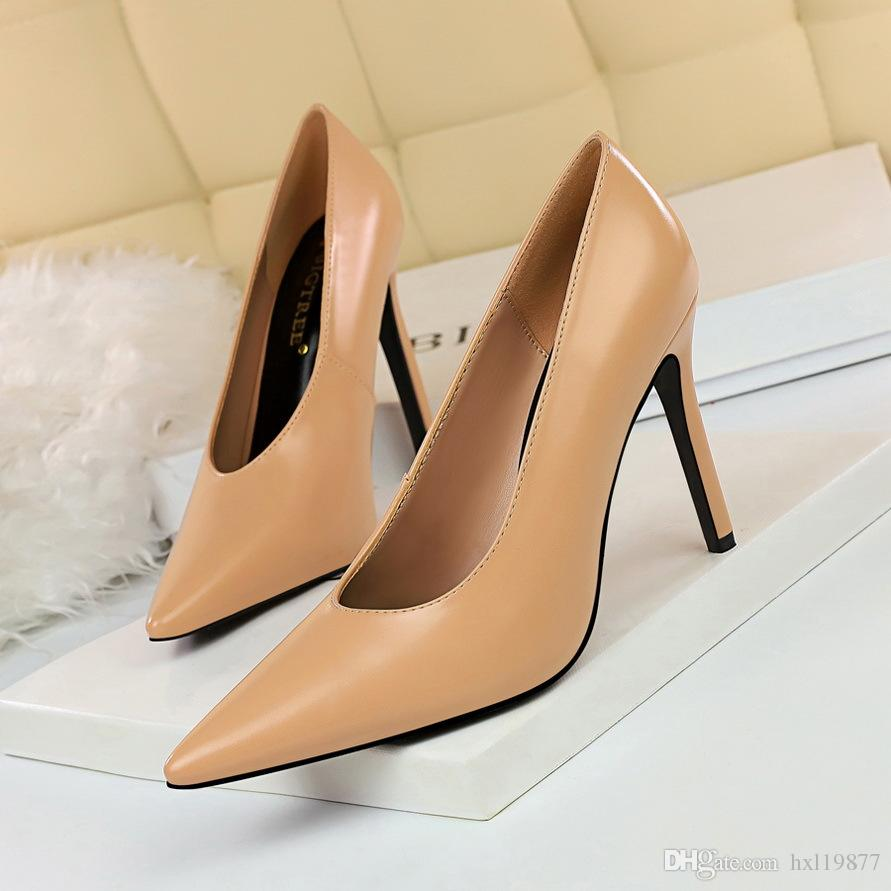 38a502ad1d9 BIGTREE Shoes New Patent Leather Women Pumps Fashion Office Shoes Pointed  Lady Sexy High Heels Shoes Women s Party Wedding Pumps 965-1