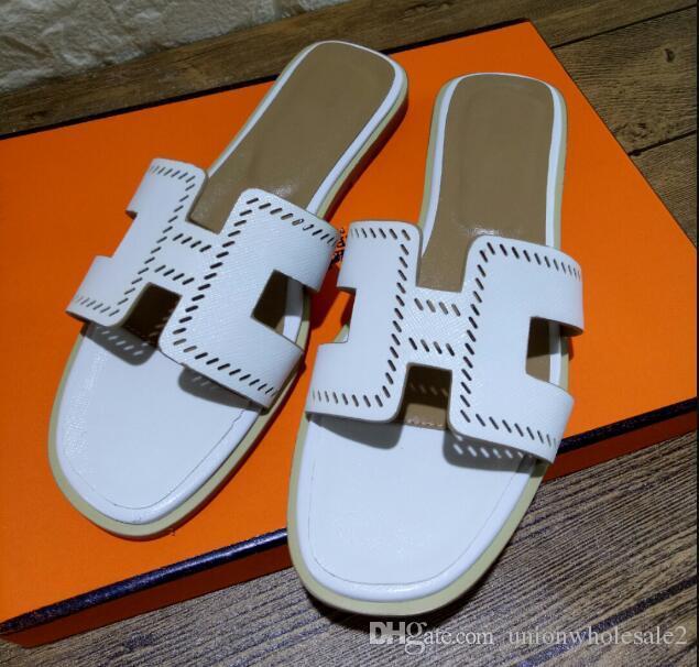 Mit Luxus Frauen Flop Sandalen Slipper Rutsche Designer designer Flip Dicke Sandalen Mode Männer Flache Schuhe Breite Sommer Rutschig huaraches 9EIHD2