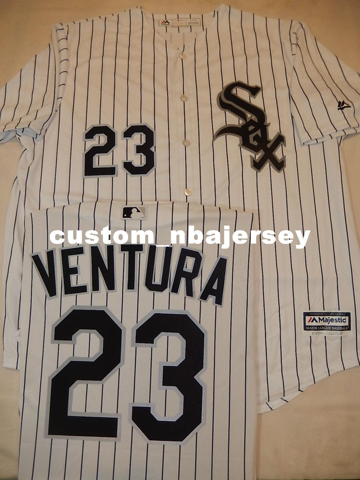 Cheap custom ROBIN VENTURA Baseball Cool Base JERSEY Stitched Customize any name number MEN WOMEN BASEBALL JERSEY XS-5XL