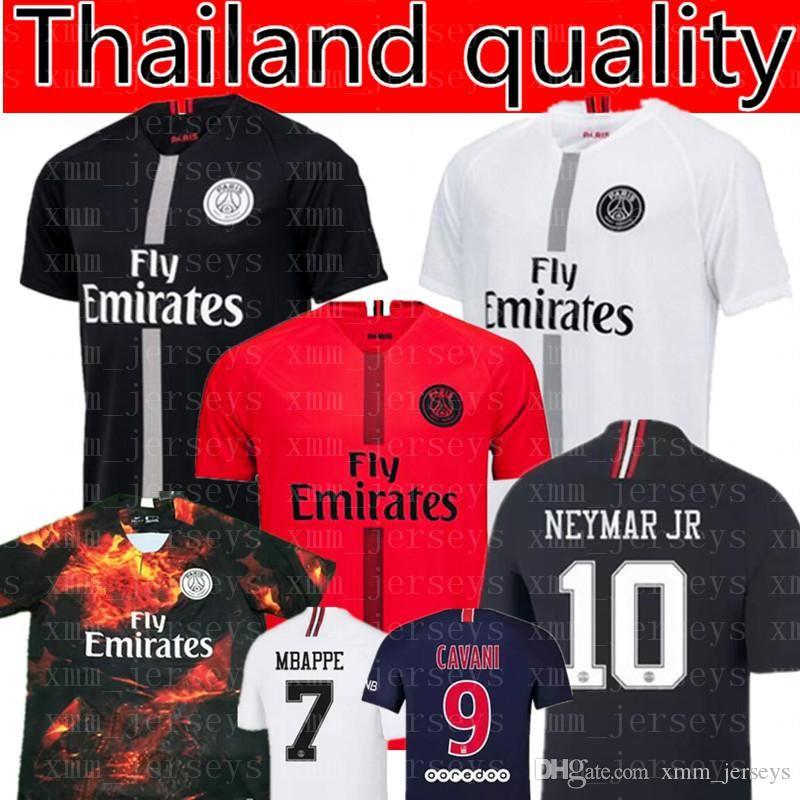 outlet store 5519a 77171 Paris Saint Germain MBAPPE #7 soccer jersey 2019 Thai Quality Cavani 10  Soccer Shirts Verratti Di Maria T SILVA football uniforms