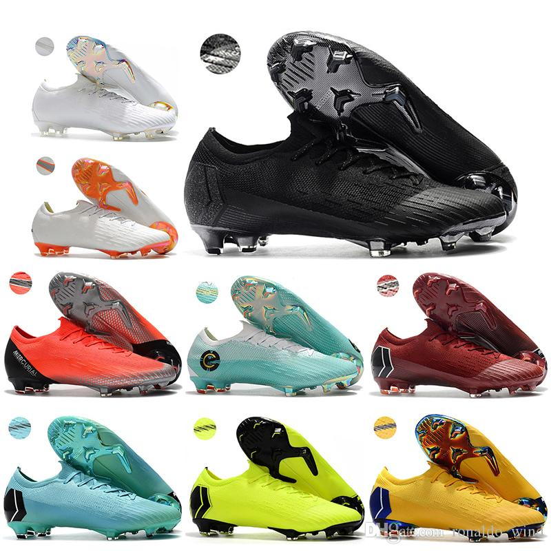 a7331bce6 New Mens Low Ankle Football Boots CR7 Mercurial Vapors Fury VII 360 ...