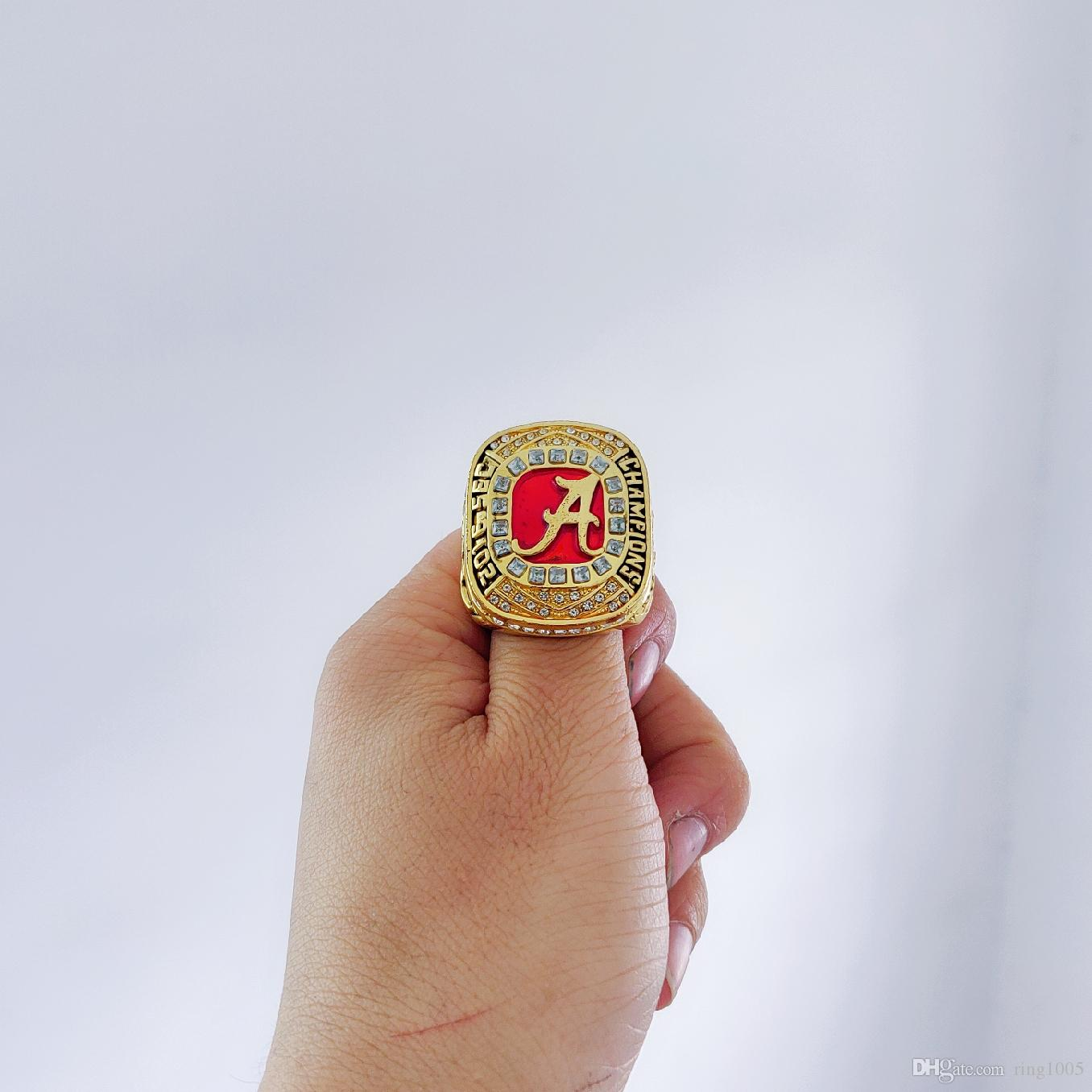 new concept 8d76a f5f1e 2019 wholesale 2016 Alabama Crimson Tide National Championship Ring  Souvenir Men Fan Gift Drop Shipping