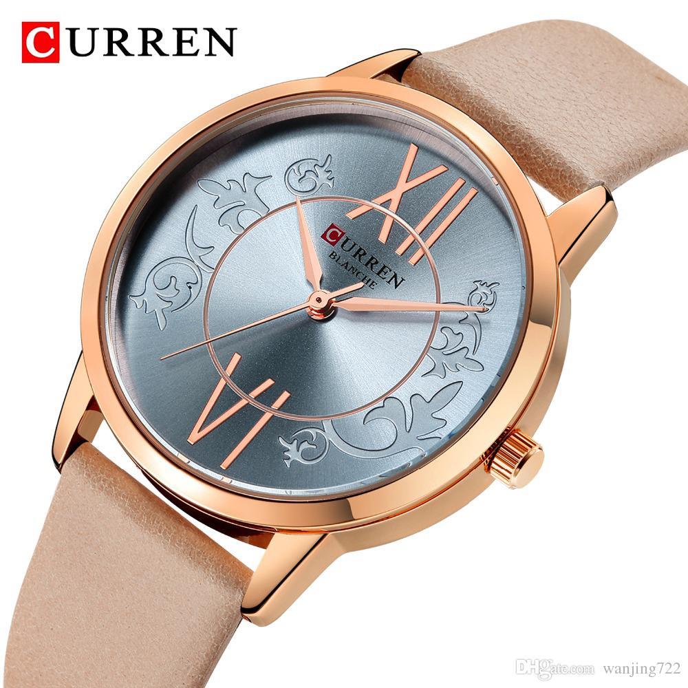 ceb84e03f CURREN Brand Fashion Women Watch Luxury Leather Strap High Quality Quartz  Wrist Watch Casual Women Dress Luxury Watches Relogio Feminino Watch Shop .