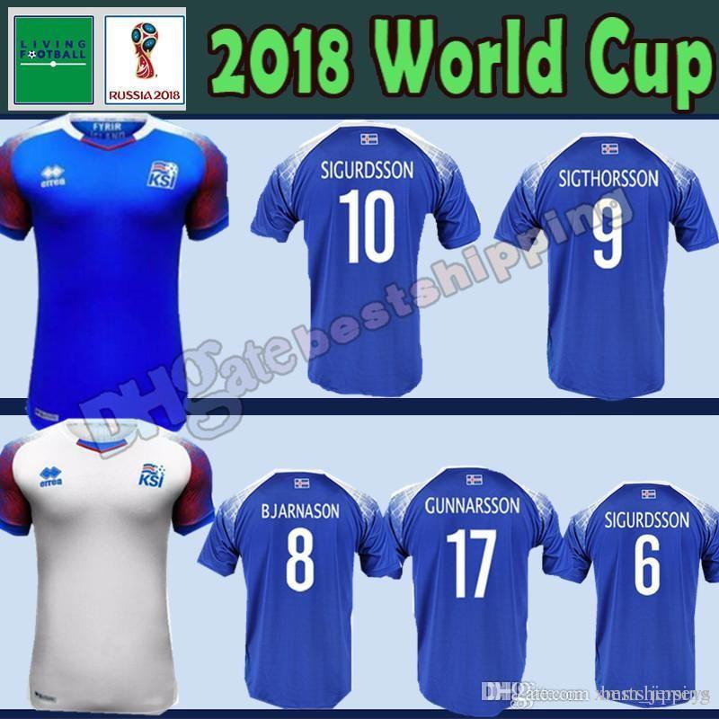 Iceland 2020 World Cup Jersey.18 19 Iceland Jerseys 2018 World Cup Iceland G Sigurdsson 10 Gudmundsson 6 Soccer Jersey Sigthorsson 9 Traustason 21 Football Shirts