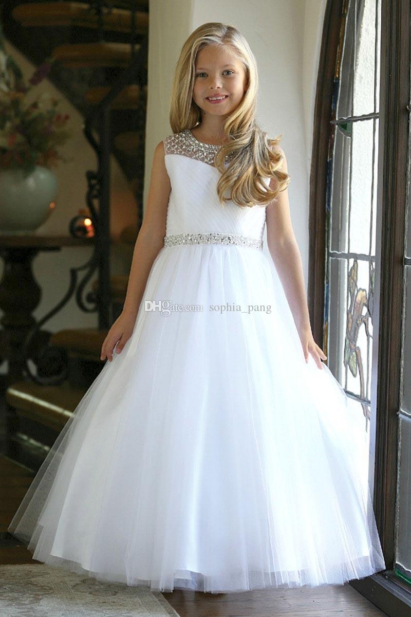 2019 Lovely White First Holy Communion Dresses Tulle ...