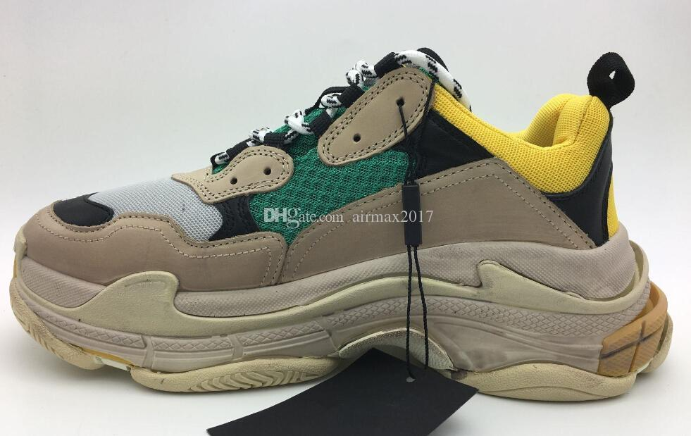 Grade A 97 TOP Dad Pk Paris Triple S Designer Speed Trainer Stretch Dirty  Father Bad Clunky Sneakers Breathable Socks Shoes Men Women 36 45 Mens  Loafers Buy ... e47e8da444b6