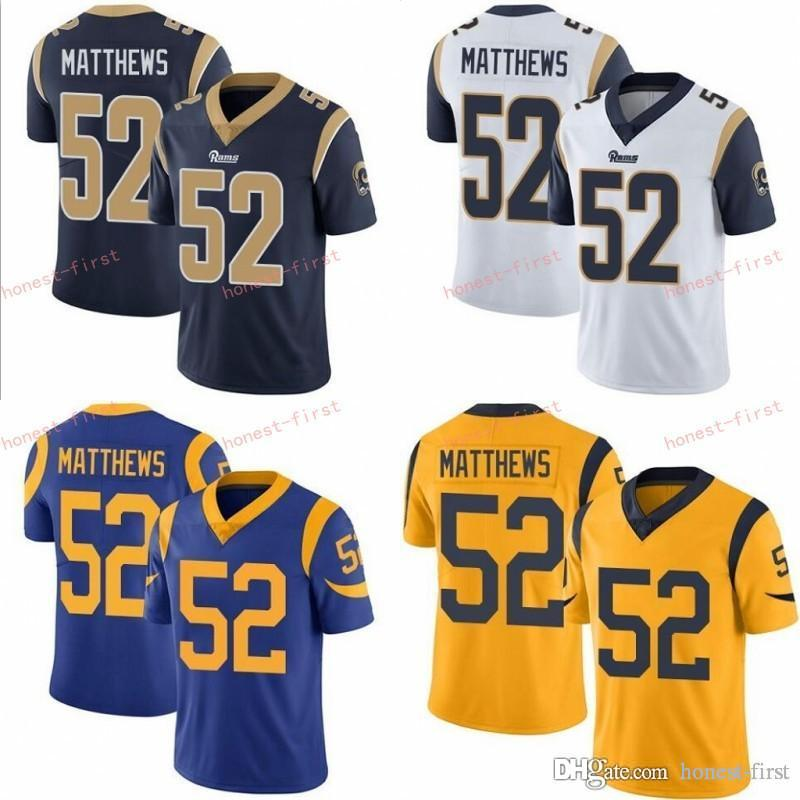 free shipping 24a06 31975 2019 New Los Angeles 52 Clay Matthews Rams Jersey Blake Bortles Football  Jerseys White Blue Orange Kids Stitched Men Women Youth