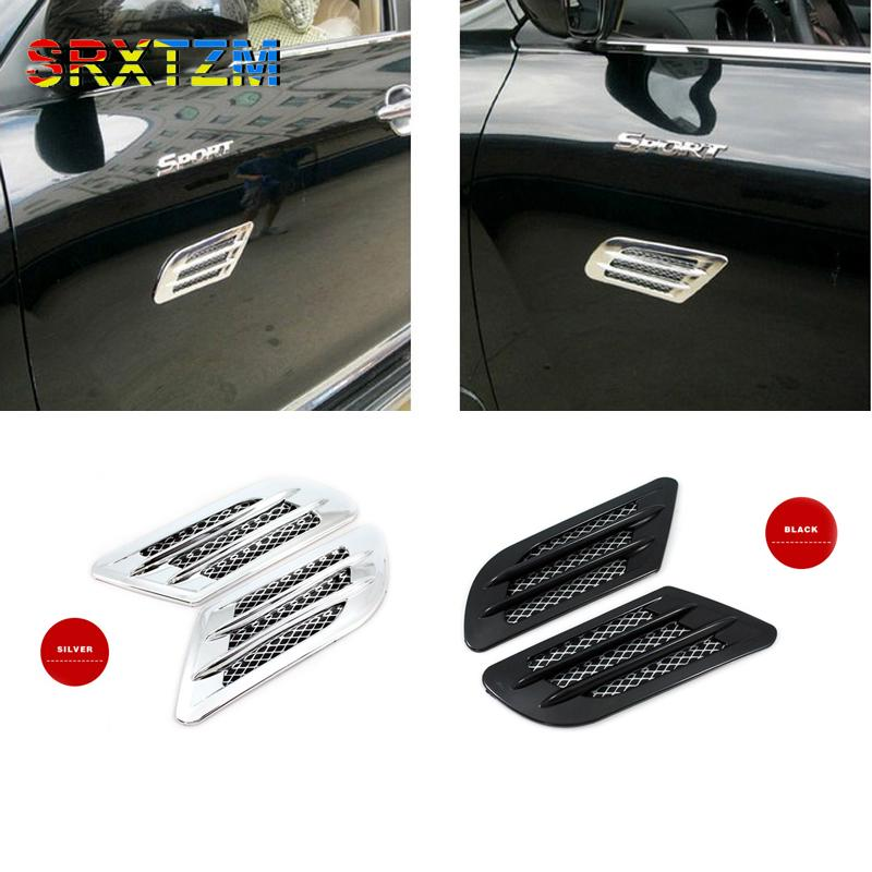 Auto Side Air Vent Hole Intake Duct Flow Grille Decoration Sticker for All Car