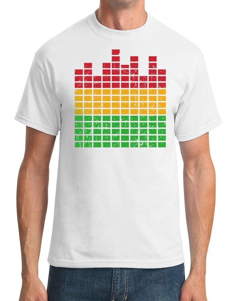 Graphic Equaliser - DJ - Mens T-Shirt Funny free shipping Unisex Casual