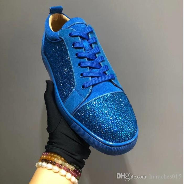 Blue Men Multicolor Shoes Fashion Party Red Bottom Sneakers Leather Casual Shoes  2018 Male Pink Shoes Vegan Shoes From Huraches015 8d9afda3c988