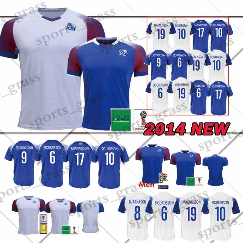 3493955c3 18 19 Iceland Jerseys 2018 World Cup Iceland G.SIGURDSSON  10 GUDMUNDSSON   6 Soccer Jersey SIGTHORSSON  9 TRAUSTASON  21 Football Shirts Iceland  Jerseys ...