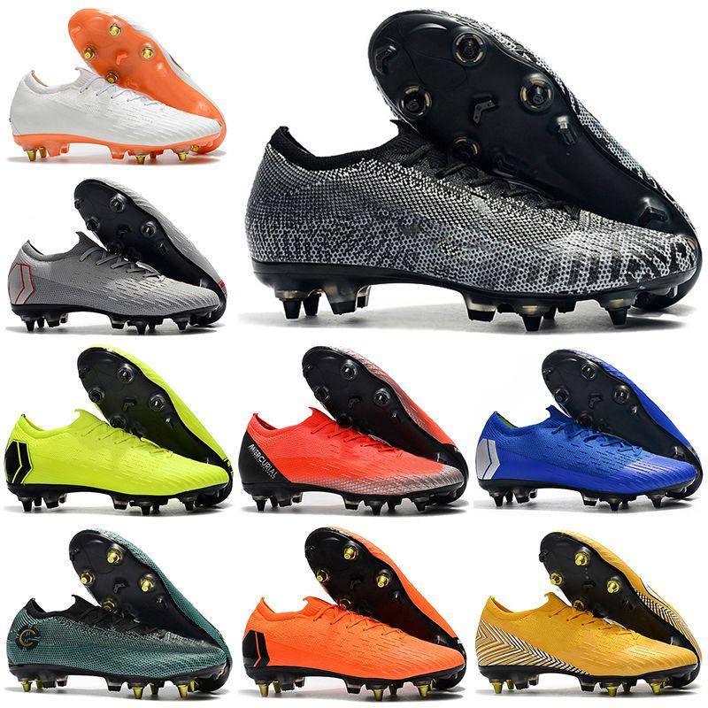 e0f032c86fa Neymar 2019 Mens Low Ankle Football Boots CR7 Mercurial Vapors XII VII Elite  SG Soccer Shoes Original Superfly ACC SHHH Soccer Cleats Purple Shoes  Scholl ...