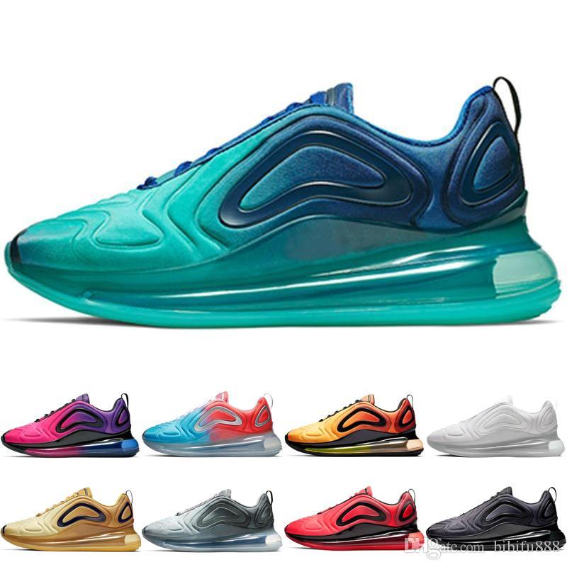 9ae0ce80d89 Compre Nike Air Max 720 2019 Nueva Llegada 720 Zapatos Para Correr Para  Hombre Mar Bosque Desierto Northern Lights Mujeres Pink Sea Sunrise  Zapatillas De ...