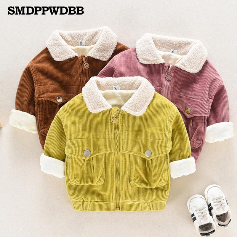 54cbd491e Girls Boys Jacket New Cotton Autumn Girls Coats Keep Warm Hooded ...