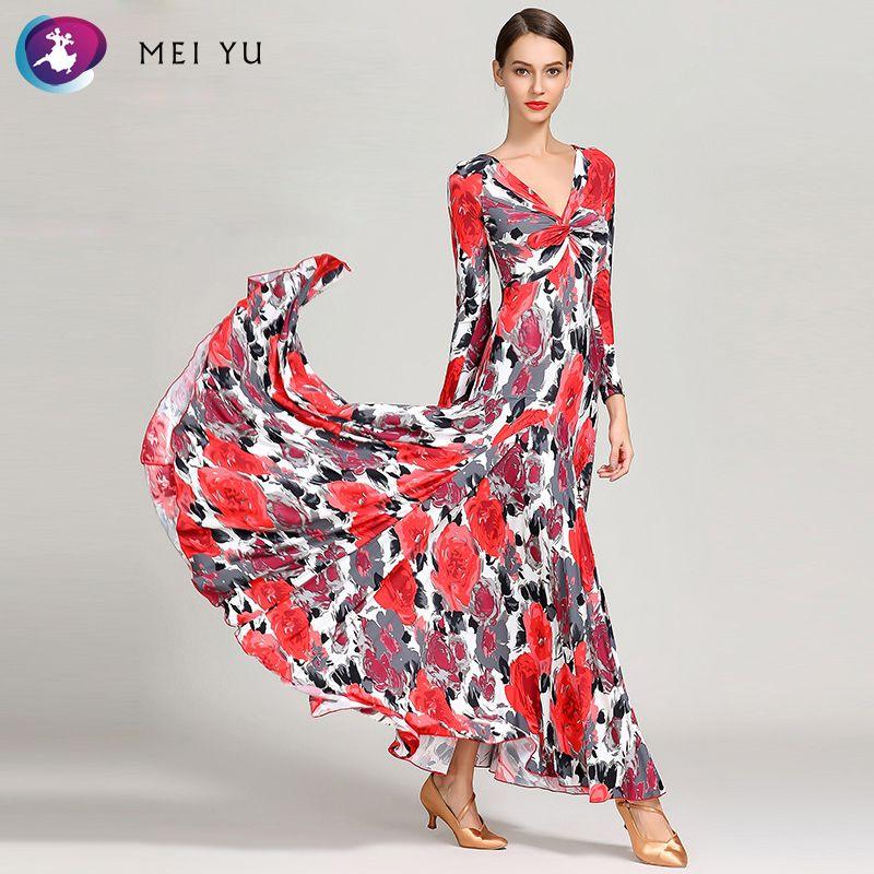 b7b370d95436 MEI YU S9045 Modern Dance Costume Women Ladies Dancewear Waltzing ...